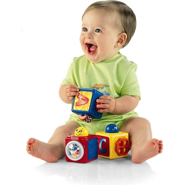 Купить пластмассовые кубики для ребенка