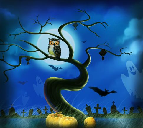 Совы и Хеллоуин
