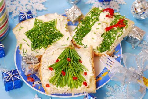 новогодние бутерброды